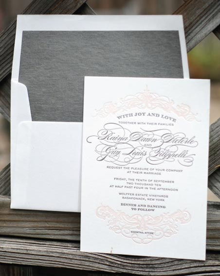 champagne label invitation